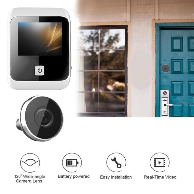 3.0 polegada digital lcd olho mágico espectador campainha 170 graus grande angular digital hd olho gravador de vídeo 1mp câmera dropshipping
