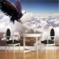 Mural Wallpapers Home Decor Photo Background Wallpaper Photography Eagle Flying Blue Sky Hotel Bathroom Large Wall
