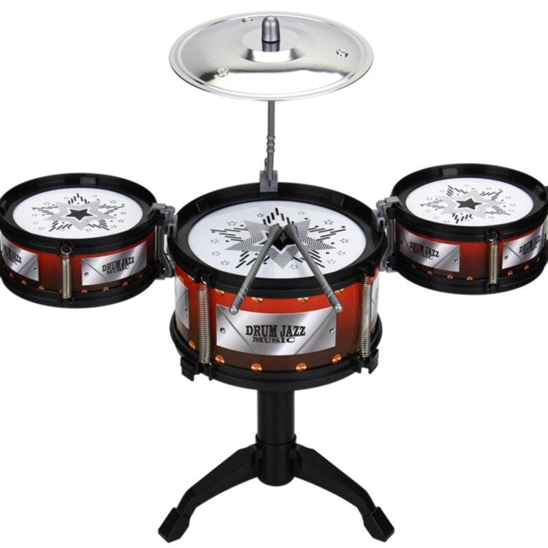 Juguete de tambor de Jazz para niños, juego de Rock, tambor de mano Musical para niños, juguete educativo divertido, regalo
