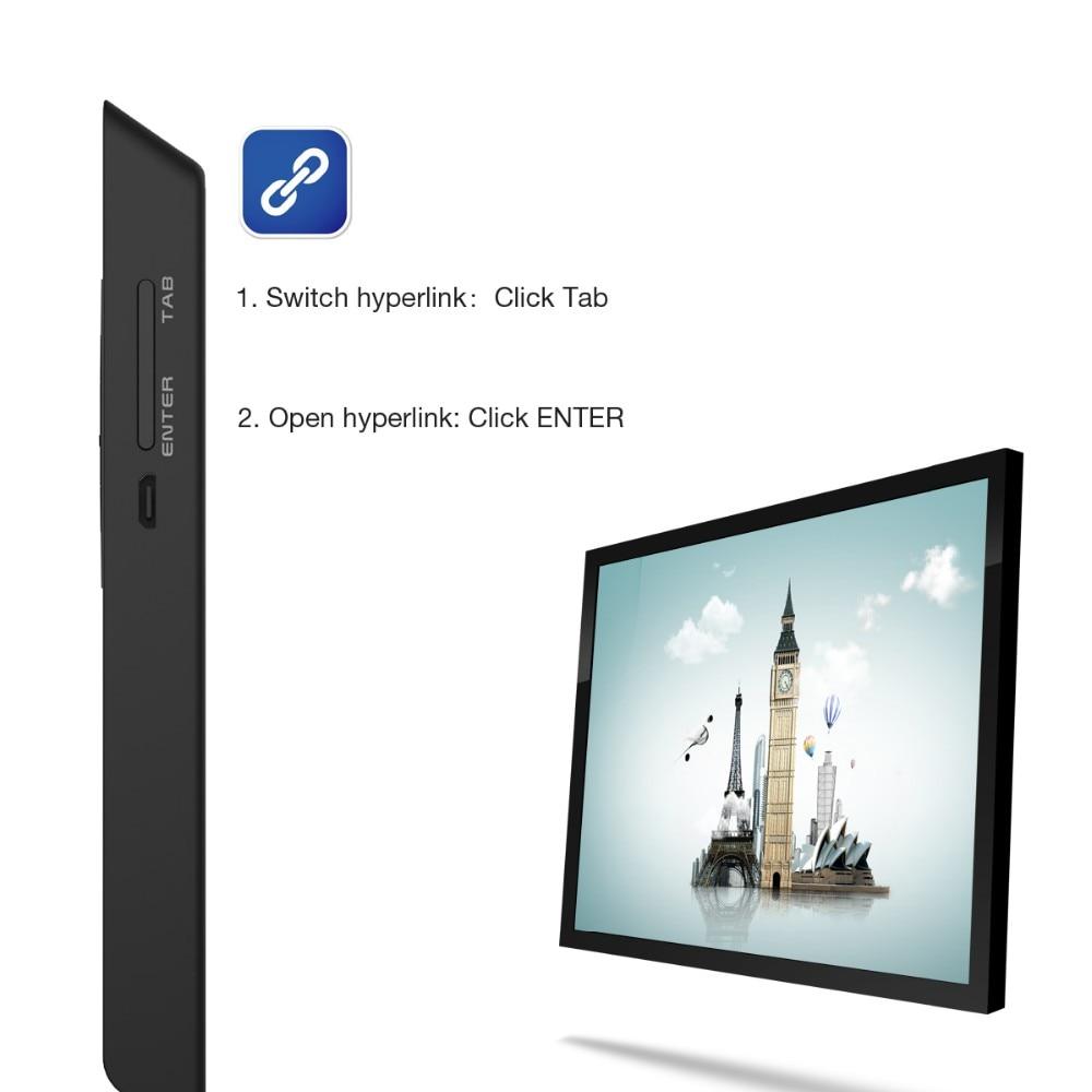 Doosl 2.4 GHz נטענת USB אלחוטי מגיש מצביע לייזר PPT שלט רחוק עבור מצגת PowerPoint