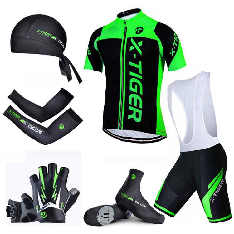 X-Tiger Summer 6 in 1 Cycling Set ! 100% Polyester Cycling Jerseys Set Bicycle Wear Mountain Bike Cycling Clothing Ropa Ciclismo