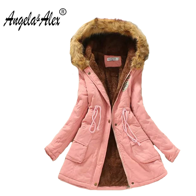2017 New Winter Coats Women Cotton Hooded Jacket Female Casual Thickening Parka Plus Size hot winter jacket women