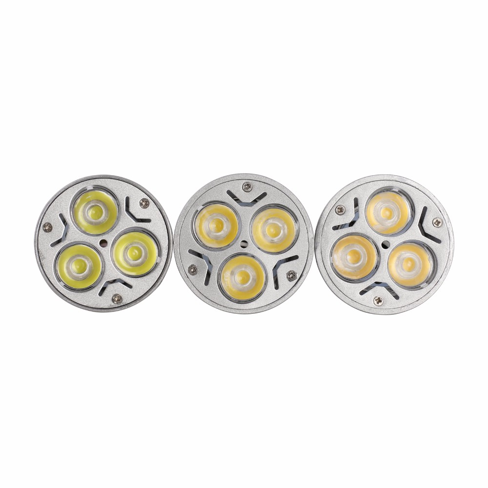 Купить с кэшбэком 10PCS High Power Lampada LED spotlight E27 GU10 E14 GU5.3 led bulbs Dimmable 3X3W Led Lamp light MR16DC 12V Dimmable AC110V 220V