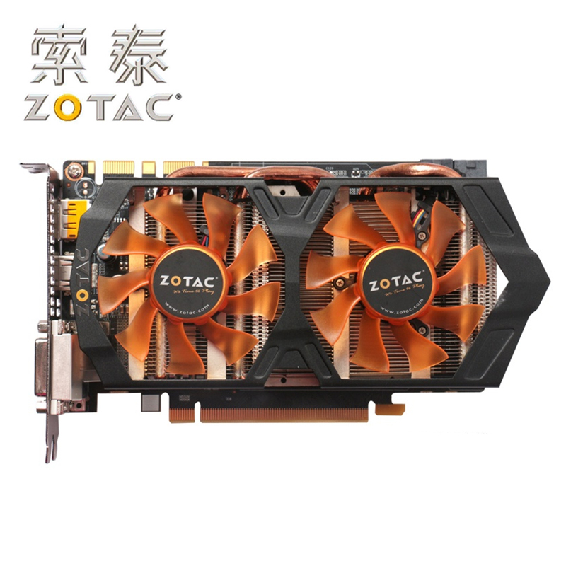 Original <font><b>ZOTAC</b></font> Video Card GeForce GTX660-2GD5 Thunder Edition PD GPU 192Bit GDDR5 Graphics Cards Map GTX660 2GD5 2GB GK106 Hdmi image