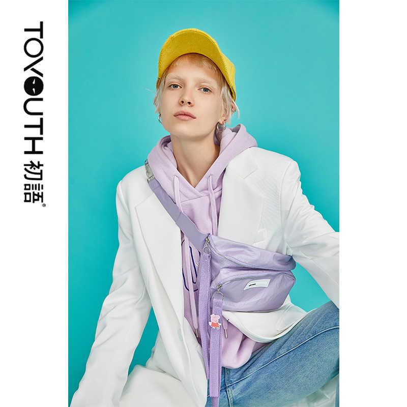 Toyouth kobiety ponadgabarytowych bluza z kapturem damska bluza z kapturem list z długim rękawem Casual swetry damskie bluzy z kapturem jesień zima odzież wierzchnia