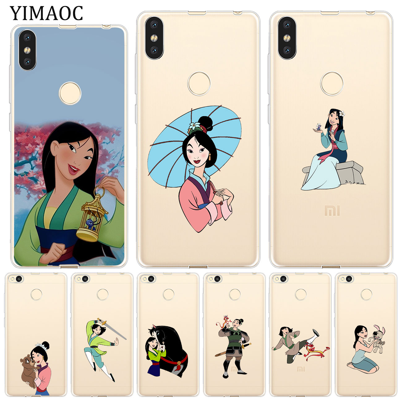 YIMAOC Cartoon mulan Anime Soft Silicone Case for Xiaomi Redmi K20 Pro 7A 6A 4A 4X S2 GO Note 8 7 6 5 Pro Plus 4 Cover