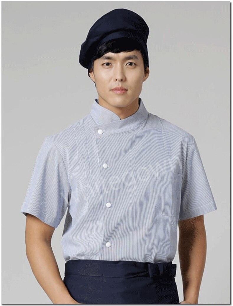 Chaud unisexe japonais corée style 100% coton chef cuisinier uniforme hôtel salon chef chemise travail porter cuisinier costume alimentaire service vêtements