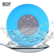 BDF Portable Mini Shower Waterproof Wireless Bluetooth Speaker Subwoofer Car Hands-free Call Music Suction Use For Mobile phone