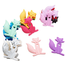 Chenkai 10PCS Cute Fox Teethers Silicone Baby Teething Nursing Pacifier BPA Free For Shower Chain Accessories