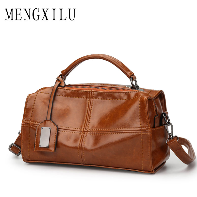 Oil Leather Woman Bags Handbag Women Famous Brand Tassel Crossbody Bags For Women Messenger Bag Ladies Hand Bag Plaid Female Sac new arrival messenger bags fashion rabbit fair for women casual handbag bag solid crossbody woman bags free shipping m9070