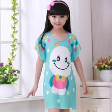 Для больших девочек ночная рубашка Новая Летняя мода принцесса мультфильм детские длинные Sleepdress хлопка детей Ночные рубашки для девочек подарок для девочки bety64