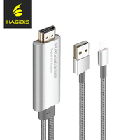 Hagibis 2 Meter 1080P HDMI Cable For Mobile Phone Connect TV For Apple For IPhone With