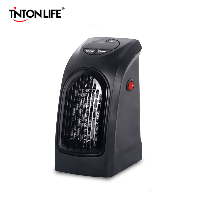 TINTON LIFE Mini Wall-Outlet Electric Handy Air Heater Warm Blower Room Fan Stove Heater
