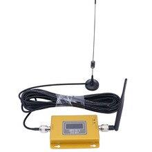Juego completo de pantalla LCD GSM 900MHZ GSM 980 repetidor de teléfono celular amplificador de señal de teléfono móvil kit + antena interior y exterior