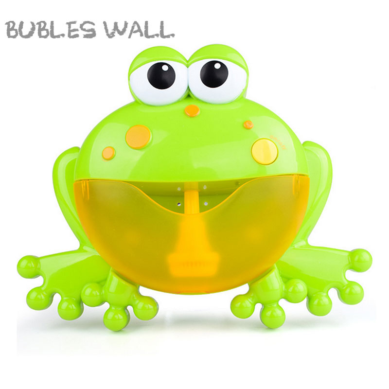 Bubles Wall Mummy Baby Bubble Machine Bubble Machine Big Frogs Automatic Bubble Maker Blower Music Bath Toy For Baby