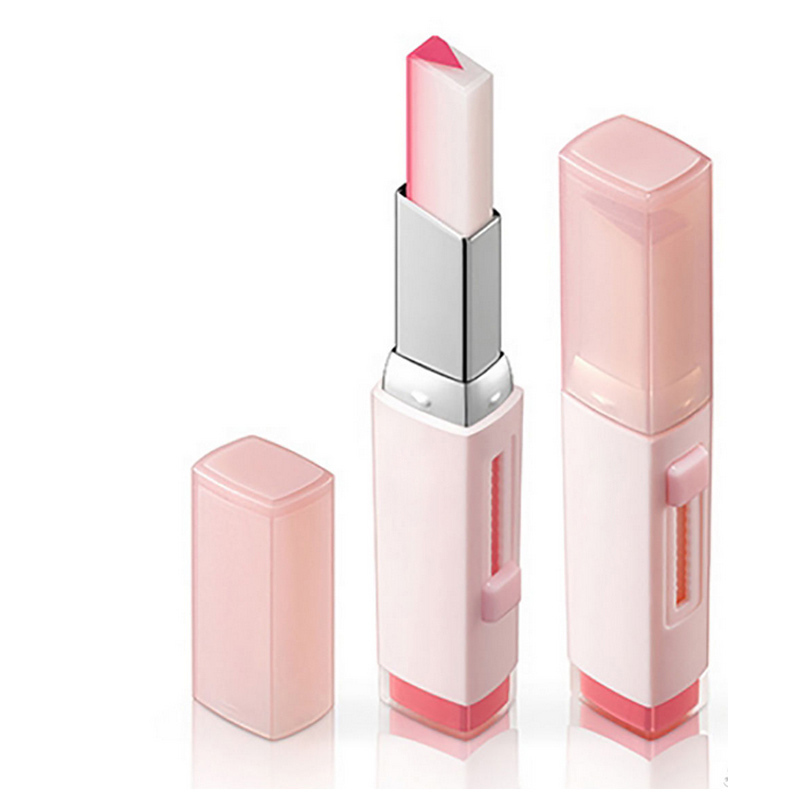 Newly Fashion Korean Bite Lipstick V Cutting Two Tone Tint Silky Moisturzing Nourishing Lipsticks Balm Lip Cosmetic YF2017