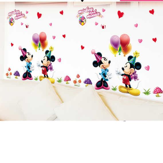 Cartoon Maus heißer luft ballon aufkleber Vinyl Wand Aufkleber Wand Schriftzug Art Worte Wand Aufkleber Home Decor Dekoration Wohnzimmer