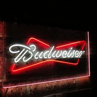 Budweiser Classic Beer Bar Decoration Gift Dual Color Led Neon Light Signs st6-a2009