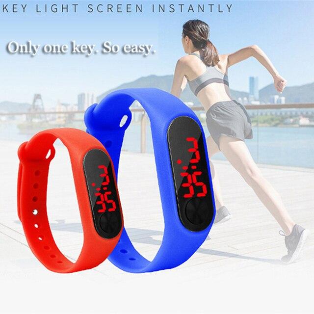 Kids Watches Women Men Wristwatch Silicone LED Digital Sports Clock Children Wat