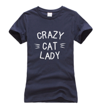 "Cool ""CRAZY CAT LADY"" girlie shirt"