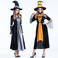 2016 New Sexy Witch Costume Deluxe Adult Womens Magic Moment Costume Adult Witch Halloween Fancy Dress Free shipping