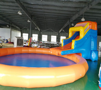 2017 new design inflatable water slide with pool for sale/inflatable swmming pool with slide