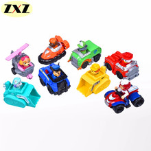 Action figure anime Canine Russian Patrol Dog Baby Toys Barking Dog Team Scooter Anime Doll Action Figures Car Patrol Puppy Toy