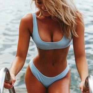 Sexy Sport Bikini 2019 two pieces Swimsuit Women Push Up Bathing Suit Brazilian Bikini set Female biquini Thong Swimwear