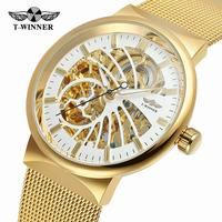 Winner 2018 Fashion Neutral Design Silver Steel Men Short Small Dial Mens Watches Top Brand Luxury