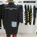 OFF WHITE TRABALHO CASACO BRANCO & PRETO 2013 OPÇÕES de Trincheira Windbreaker Casacos de Hip Hop Kanye West VIRGIL ABLOH Supremo Harajuku JAQUETAS