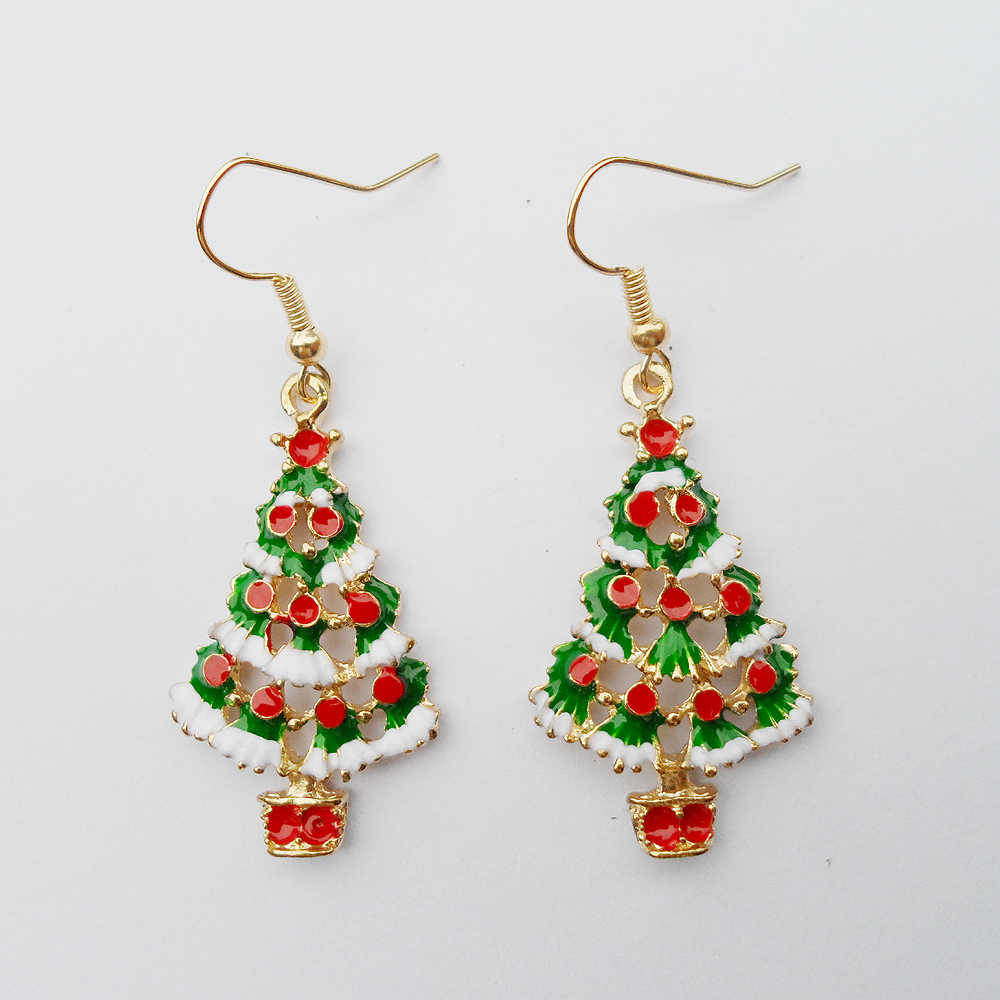 {2019 Celebrating Christmas,  new women's Christmas earrings ,Pendant Christmas tree earrings for girls new year gifts.