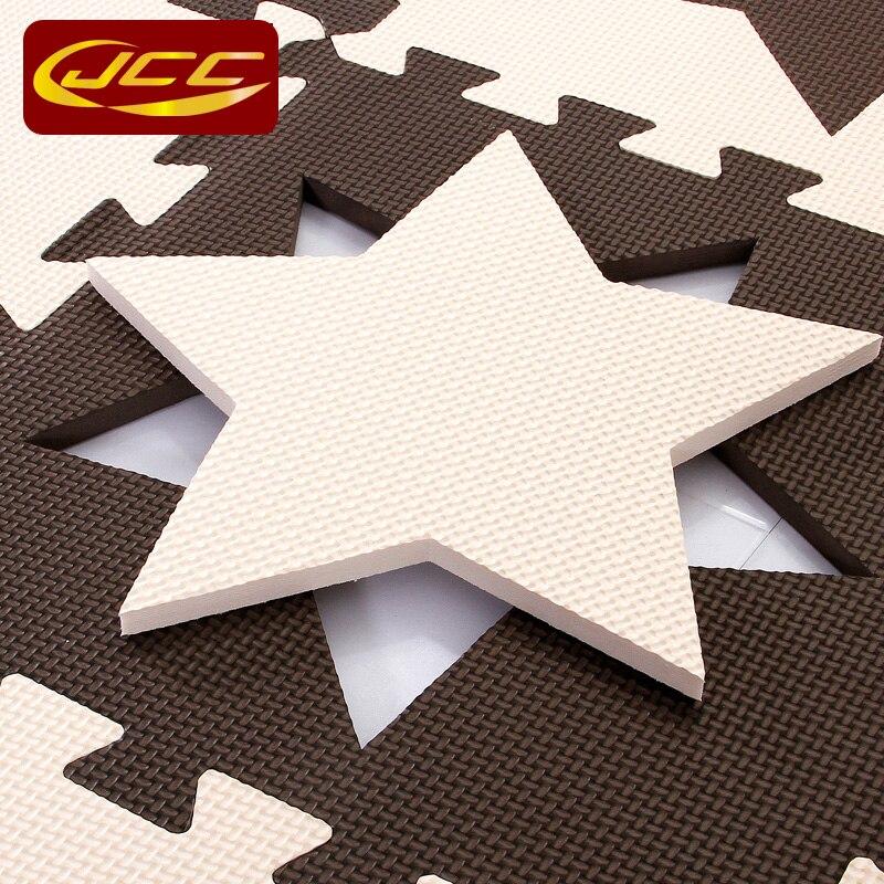 JCC dječja EVA pjena puzzle igra mat / 10pc djeca Star tepisi - Igračke za bebe i malu djecu - Foto 6