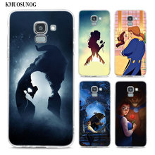 Transparent Soft Silicone Phone Case Beauty & The Beast stencil For Samsung Galaxy j8 j7 j6 j5 j4 j3 Plus 2018 2017 Prime