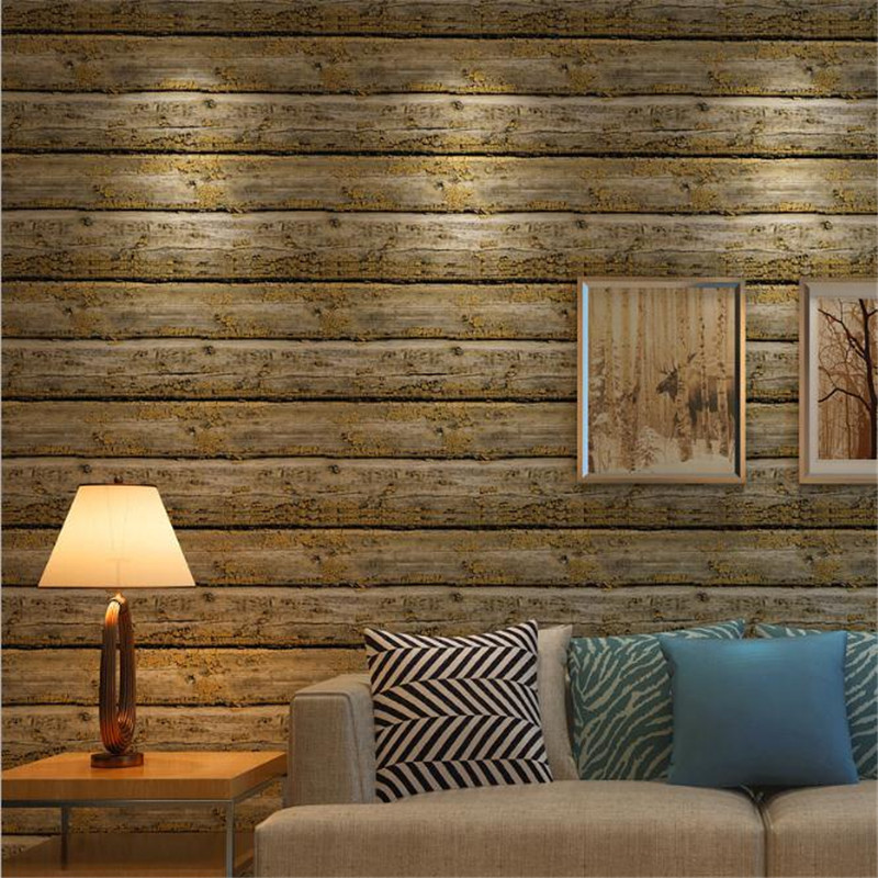 3D Embossed Wallpaper Roll Desktop Wallpaper Vinyl Wood Grain Modern TV Background PVC W ...