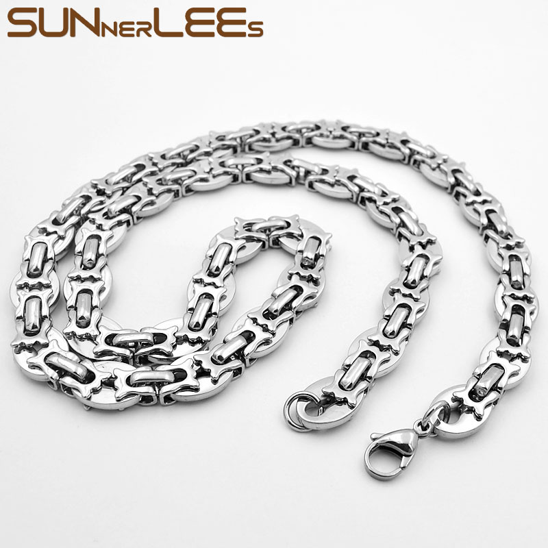 """18-40/""""MEN/'s Stainless Steel 4mm Gold Silver Box Link Chain Necklace Bracelet*T"""