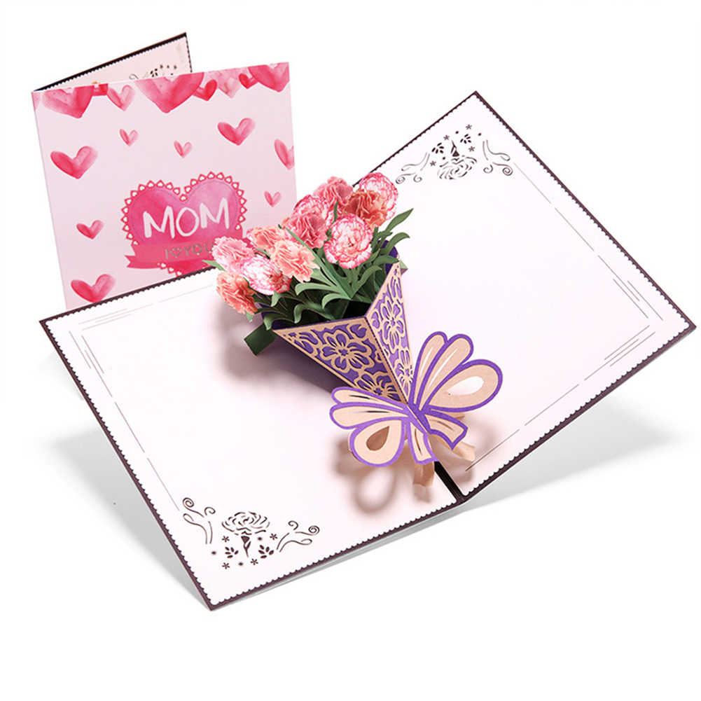 Swell 3D Pop Up Cards Mothers Day Gifts Card I Love Mom Carnation Personalised Birthday Cards Veneteletsinfo