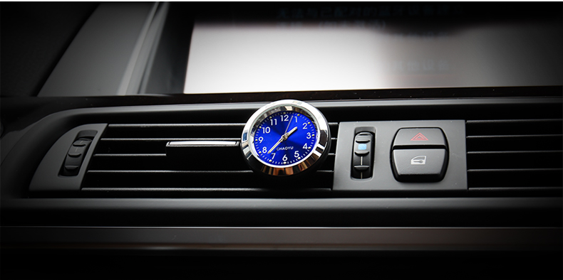 Multi function creative auto quartz luminous exquisite watch thermometer car styling air outlet vent car air