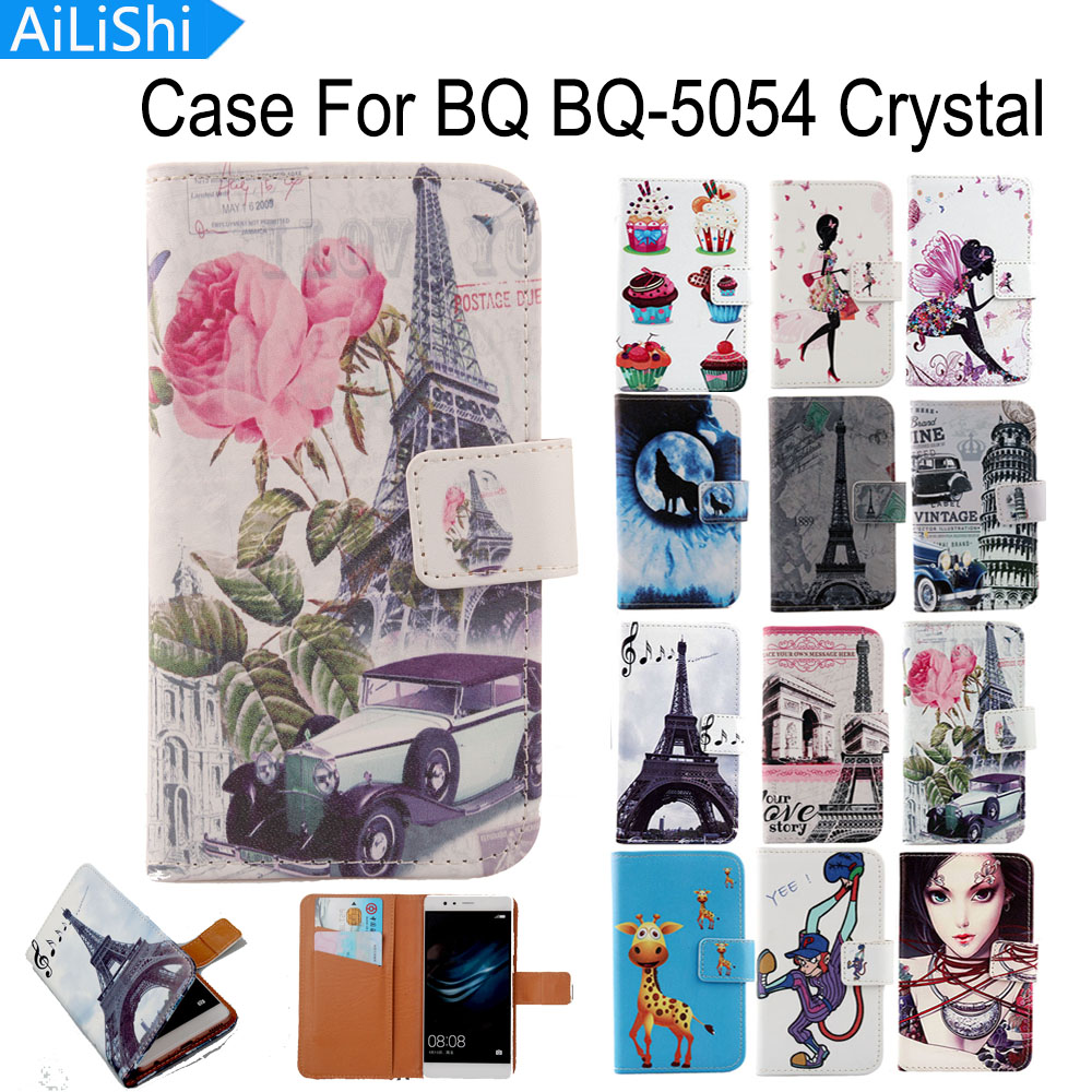 AiLiShi For BQ BQ-5054 Crystal Case Cartoon Painted Luxury Flip Fashion Leather Case Hot Sale Factory Direct + Tracking In Stock