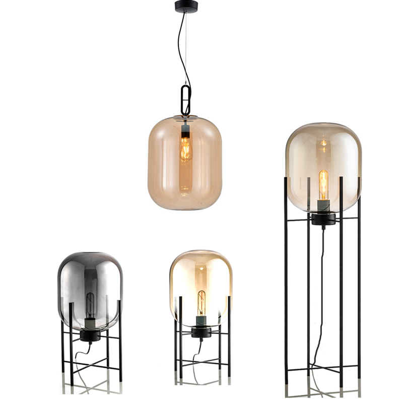 Modern bubble Pendant Lightt amber grey color Glass Bubble Ball floor light Fixtures Indoor Lighting Lustre luminaria Hang Lamp цены