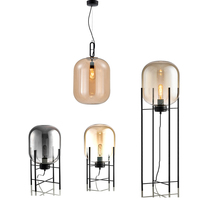 Modern bubble Pendant Lightt amber grey color Glass Bubble Ball floor light Fixtures Indoor Lighting Lustre luminaria Hang Lamp