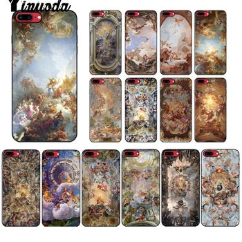 Yinuoda palace of versailles The Creation of Adam Art Black Phone Cover for Apple iPhone 8 7 6 6S Plus X XS MAX 5 5S SE XR Cover image