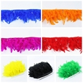 New 10 Meter fluffy Beautiful Turkey feathers ribbon fringe 4-6inch turkey feather trimming for carnival costumes Diy Clothing