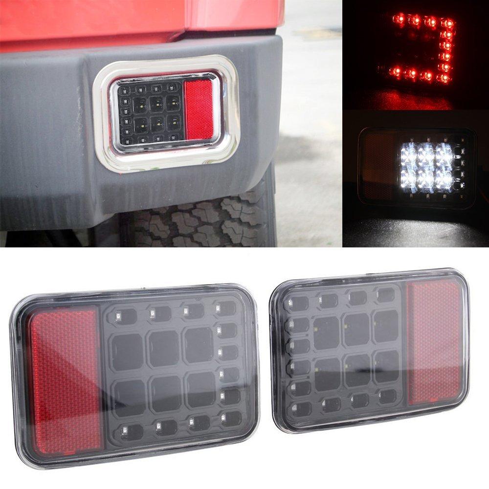 Задний светодиодный задний задний бампер свет резервного копирования Обратный свет габаритный фонарь стоп-сигнал в сборе для Wrangler 07-15 JK виллиса