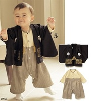 Japanese Baby Boy Kimono Jumpsuit with Top 2 Sets
