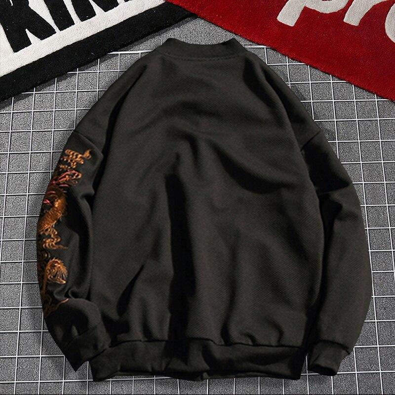 Winter Plus size 2xl 7xl 8xl gebreide Hoodies europese knop bovenkleding grote mannelijke turn down kraag thermische zwarte Sweatshirts - 4