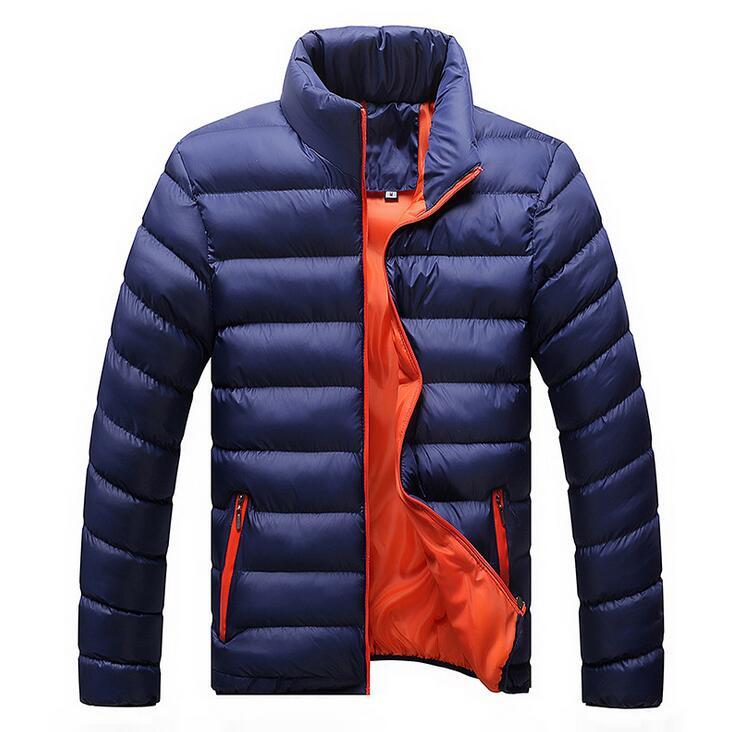 Kış Ceketler Erkek 2019 Yeni Şık Slim Spor Kapitone Uzun Kollu - Erkek Giyim - Fotoğraf 6