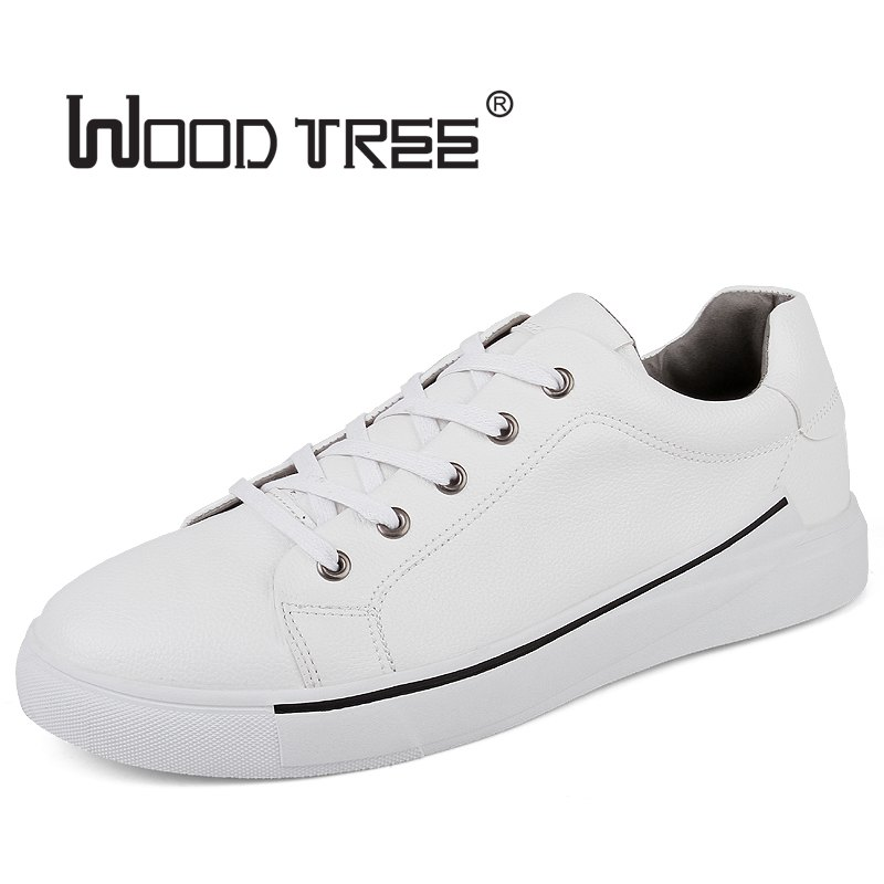 WOODTREE  Men's Leather Casual Shoes Classic Fashion Male Lace up - Men's Shoes - Photo 2