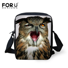 2016 Hot Sale Men Cross Body Shoulder Bags Zoo Animal Horse Owl Messenger Bags for Male Female Casual Men's Travel Small Bags