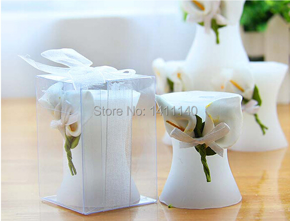 1 set sample elegant calla lily candle wedding favors gift for Sample wedding decorations