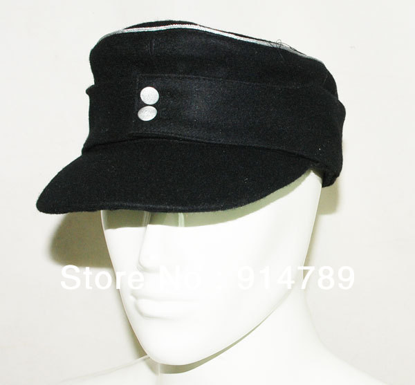 WWII GERMAN WH ELITE OFFICER M43 PANZER WOOL FIELD CAP IN SIZES-3763